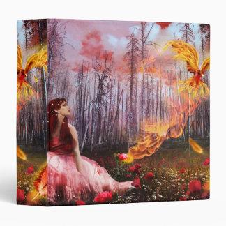 Cool Fiery Phoenix Fantasy Forest Binder