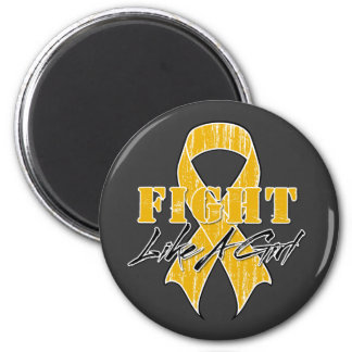Cool Fight Like A Girl Appendix Cancer Magnet