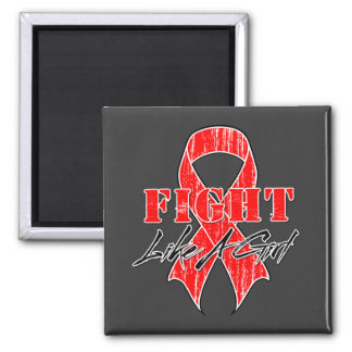 Cool Fight Like A Girl Blood Cancer Refrigerator Magnet