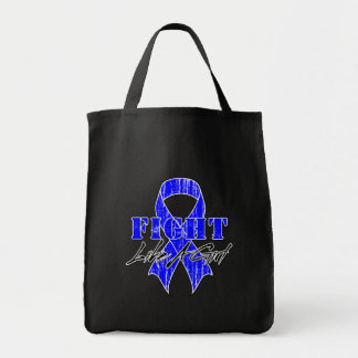 Cool Fight Like A Girl Colon Cancer Tote Bag