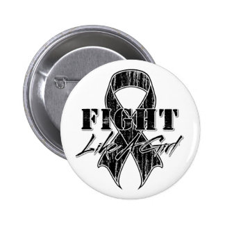 Cool Fight Like A Girl Melanoma 2 Inch Round Button