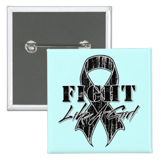 Cool Fight Like A Girl Melanoma 2 Inch Square Button