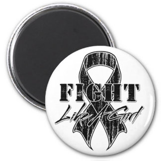 Cool Fight Like A Girl Melanoma 2 Inch Round Magnet