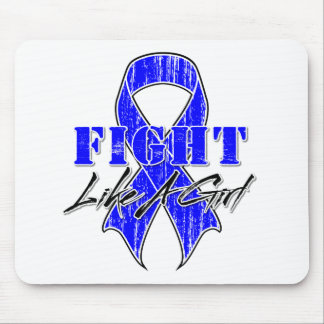 Cool Fight Like A Girl Rectal Cancer Mouse Pad