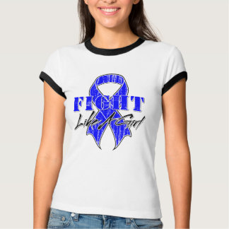 Cool Fight Like A Girl Rectal Cancer Shirts