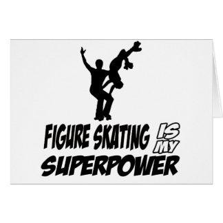 Cool Figureskating designs Greeting Cards