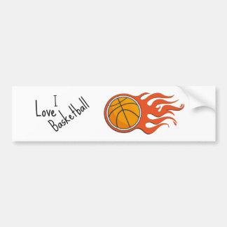 Cool Fire Basketball bumper sticker