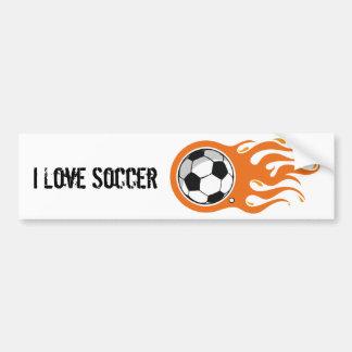 Cool Fire Soccer Ball bumper sticker
