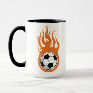 Cool Fire Soccer Ball mug