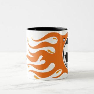 Cool Fire Soccer Ball - mug is on fire