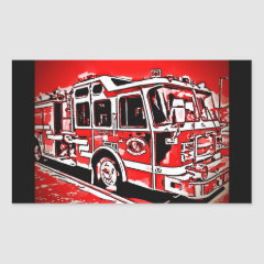 Cool Fire Truck Stickers