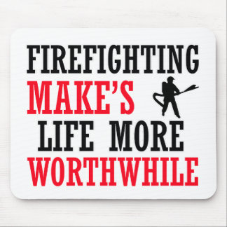 cool firefighter design mouse pad