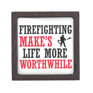 cool firefighter design premium gift box