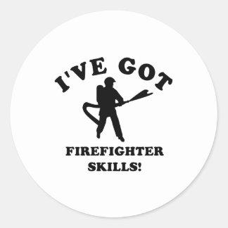 Cool FIREFIGHTER SKILLS designs Classic Round Sticker