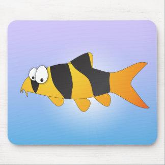 Cool fish - Clown loach Mousepads