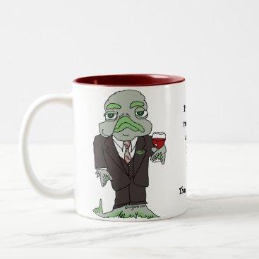 Coffee Themed Cool Fish Gifts Coffee Mug