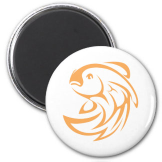 Cool Fish Jumping Swish Icon Logo Style Magnet