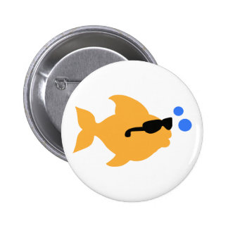 COOL FISH MINI PINBACK BUTTON