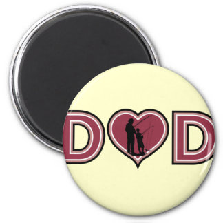 Cool Fishing DAD Father's Day 2 Inch Round Magnet