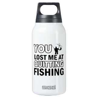 Cool fishing designs insulated water bottle