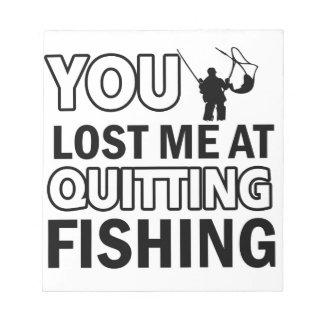 Cool fishing designs memo pads