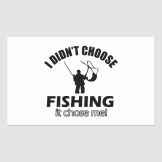 Cool FISHING designs Rectangular Sticker