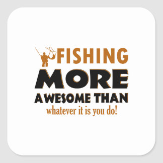 Cool Fishing designs Square Sticker