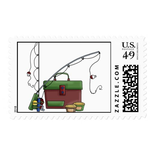 Cool Fishing Gear Postage Zazzle