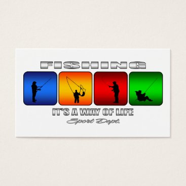 Beach Themed Cool Fishing It Is A Way Of Life Business Card