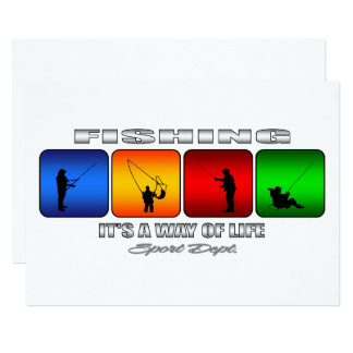 Cool Fishing It Is A Way Of Life Card