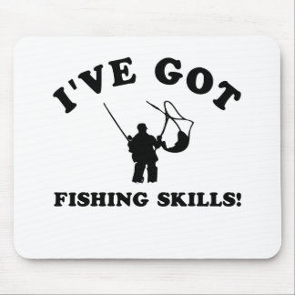 Cool FISHING SKILLS designs Mouse Pad