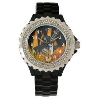 Cool Flame Guitar  Numbered Wrist Watch