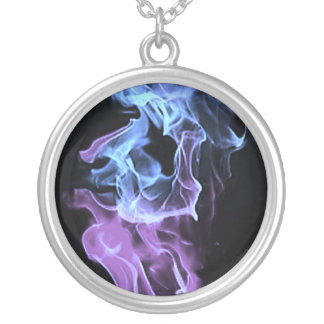 Cool Flames Round Pendant Necklace