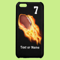 Cool Flaming Football iPhone 5C Cases