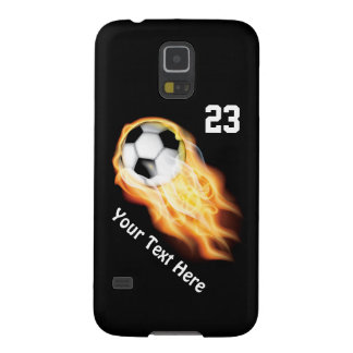 Cool Flaming Soccer Phone Cases NEW Galaxy S5 Cases For Galaxy S5