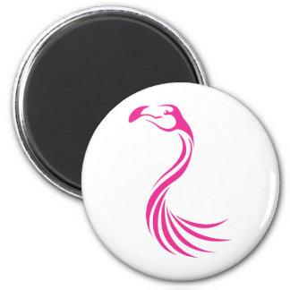Cool Flamingo Greater Swish Logo Icon Style Magnet