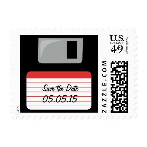Cool Floppy Disk Save the Date Stamps