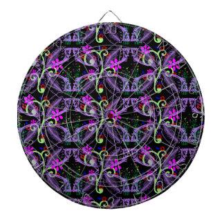 Cool Floral Butterfly Pattern Dartboard