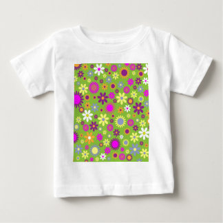 Cool Floral Pattern Colorful Scrapbooking Green Baby T-Shirt