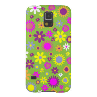Cool Floral Pattern Colorful Scrapbooking Green Galaxy S5 Covers