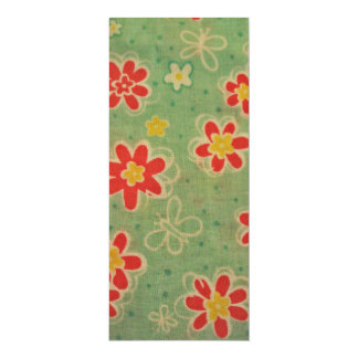 cool floral pattern personalized invitation