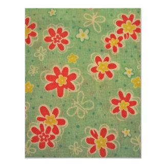 cool floral pattern invitation