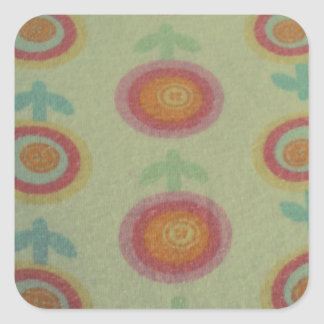cool floral pattern square sticker