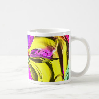 Cool Flourescent Pastel Abstract Pattern Coffee Mug