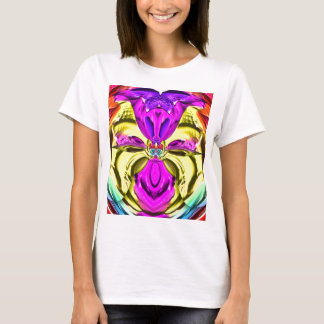 Cool Flourescent Pastel Abstract Pattern T-Shirt