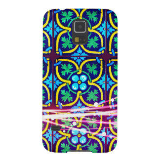 Cool Flower Art Tile Design with Light Trails Galaxy S5 Cover
