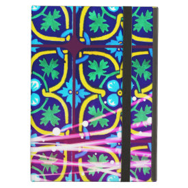 Cool Flower Art Tile Design with Light Trails iPad Covers