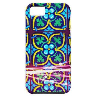 Cool Flower Art Tile Design with Light Trails iPhone SE/5/5s Case