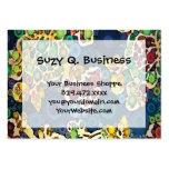 Cool Flower Mosaic Concentric Circles Art Design Large Business Card