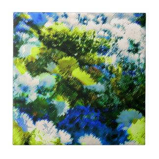 Cool Flowering Garden Ceramic Tile